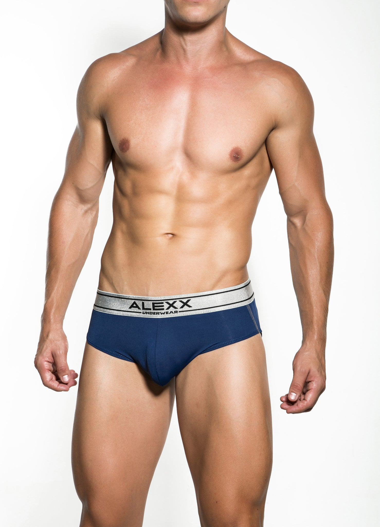 Navy Attractive Latin Briefs