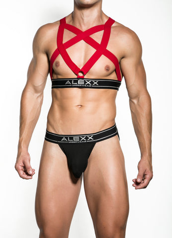 Red Party Harness | UNDERWEAR | ALEXX | OUTFAIR