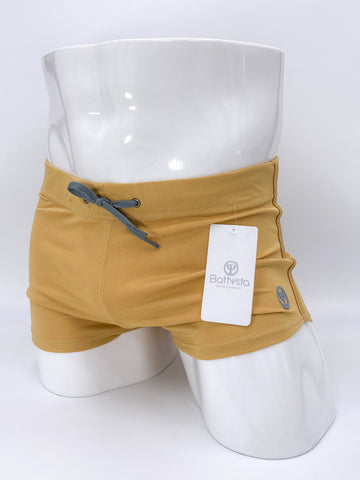 Champagne Commando Stretch Short Shorts