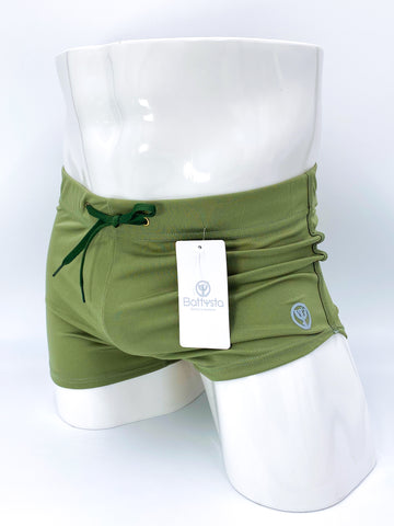 Olive Commando Stretch Short Shorts