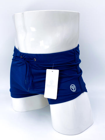 Petroleum Blue Commando Stretch Short Shorts