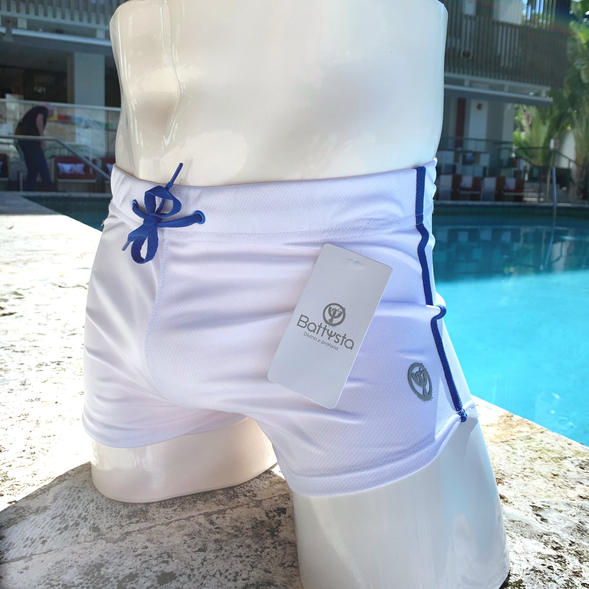 White Commando Stretch Short Shorts