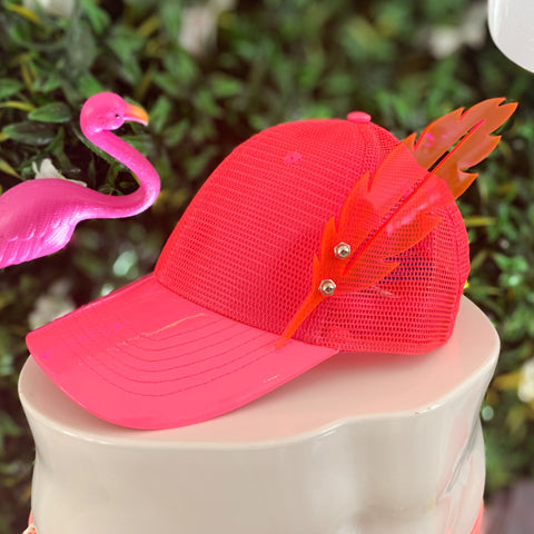 Pink Feather Hat | ACCESSORIES | STRAPPING BOY NYC | OUTFAIR
