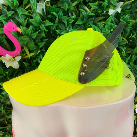 Black Wings Neon Hat | ACCESSORIES | STRAPPING BOY NYC | OUTFAIR