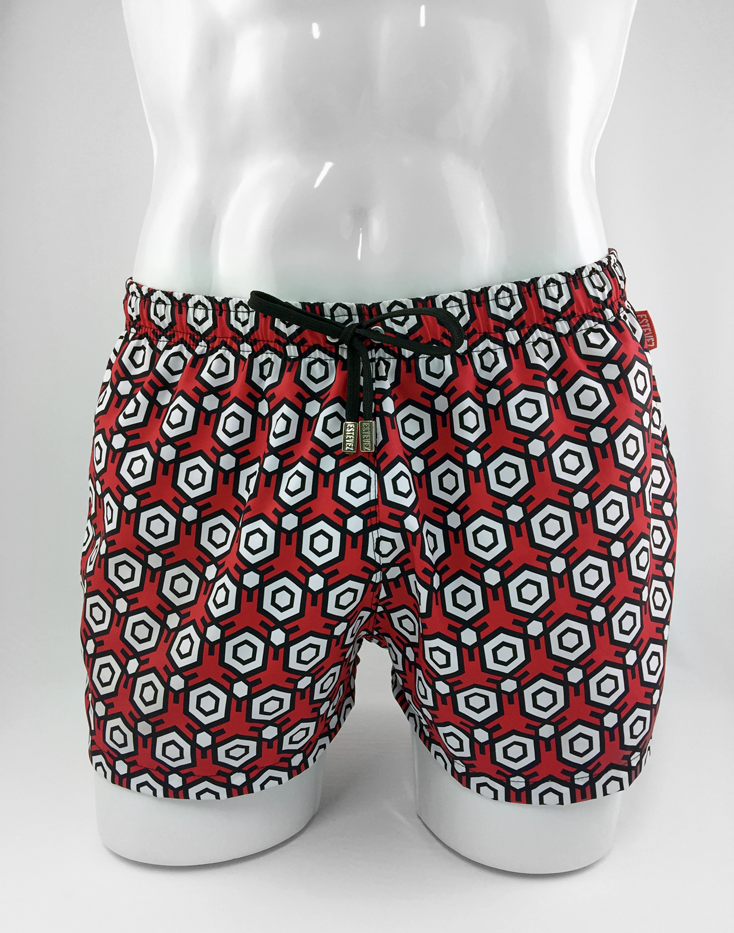 SUPERNATURAL RED HONEYCOMB SHORTS