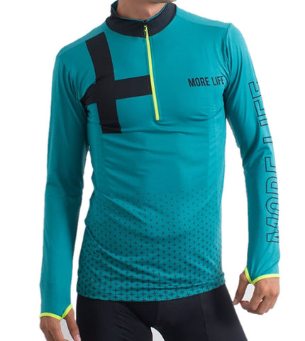 PLUS RUN - Mens Running Jersey | CYCLING JERSEY | MORE LIFE | OUTFAIR