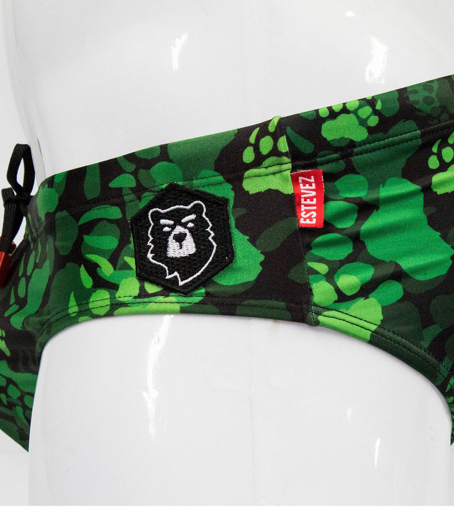 CAMO PAW GREEN SWIMSUIT