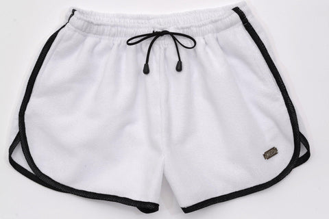 Aftersplash White Shorts | SHORTS | INDECENT EXPOSURE | OUTFAIR | outfair.myshopify.com