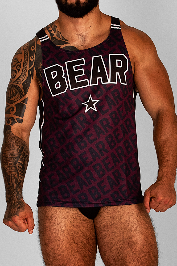 BEAR 2020 BURGUNDY TANK TOP