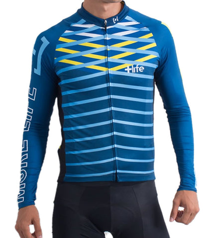 BLUE LINES - Mens Cycling Jersey | CYCLING JERSEY | MORE LIFE | OUTFAIR