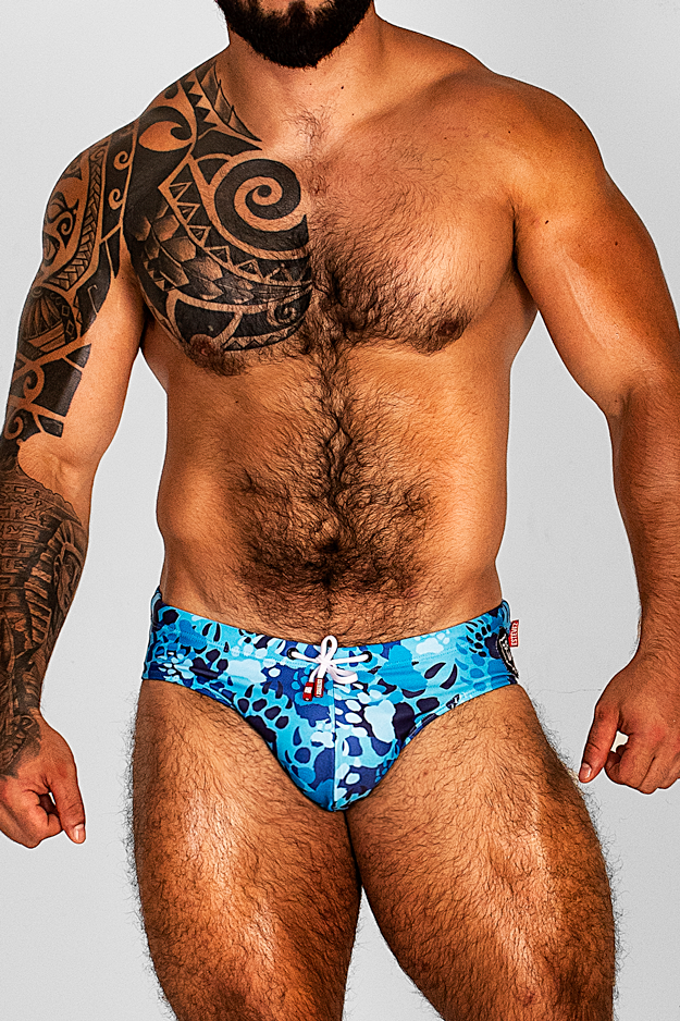 CAMO PAW BLUE SWIMSUIT
