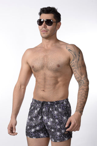 Disco Ball Swim Shorts | SHORTS | INDECENT EXPOSURE | OUTFAIR | outfair.myshopify.com