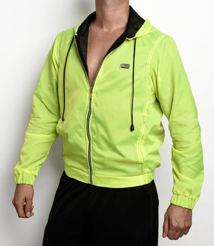 OUTFAIR Neon Glossy Windbreaker |  JACKET | INDECENT EXPOSURE | OUTFAIR