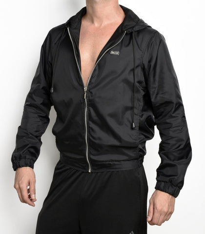 Black Glossy Windbreaker | JACKET | INDECENT EXPOSURE | OUTFAIR