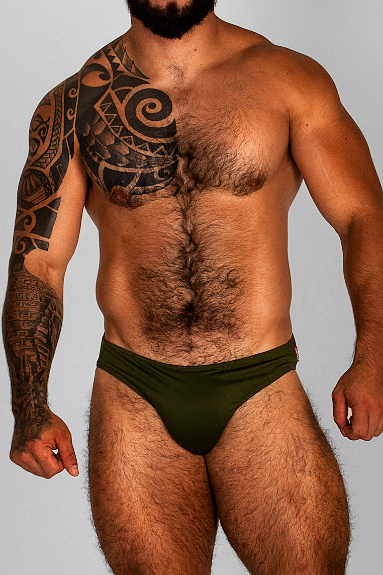 FREEDOM MILITARY GREEN UNDIES/SWIMSUIT