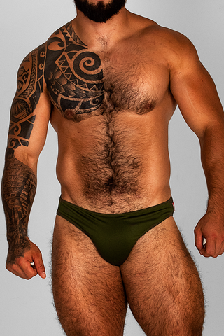 FREEDOM MILITARY GREEN UNDIES/SWIMSUIT | UNDERWEAR | ESTEVEZ | OUTFAIR | outfair.myshopify.com