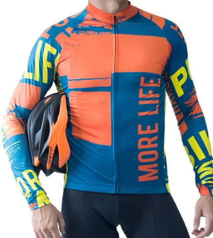 ORANGE BRUSH - Mens Cycling Jersey |  CYCLING JERSEY | MORE LIFE | OUTFAIR