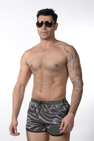 Grey Retro Short Shorts | SHORTS | INDECENT EXPOSURE | OUTFAIR | outfair.myshopify.com