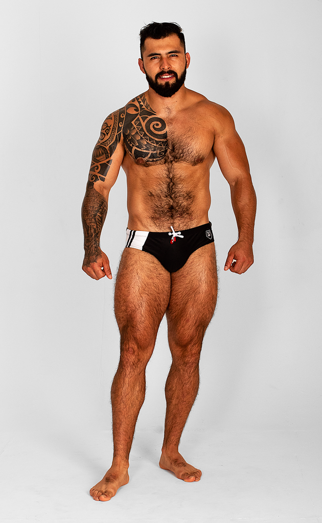SPORT BEAR BLACK SWIMSUIT