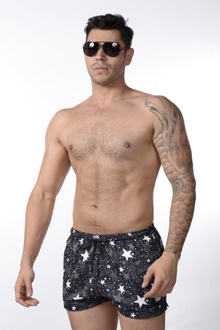 Black Superstar Swim Shorts | SHORTS | INDECENT EXPOSURE | OUTFAIR | outfair.myshopify.com