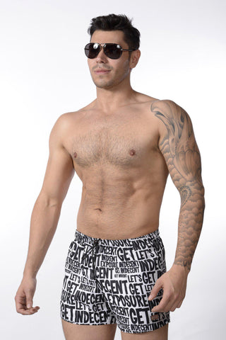 Tabloid Swim Shorts | SHORTS | INDECENT EXPOSURE | OUTFAIR | outfair.myshopify.com