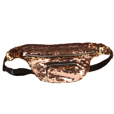 OUTFAIR Waist Bag Sequins |  ACCESSORIES | Turquoise Chloe | OUTFAIR