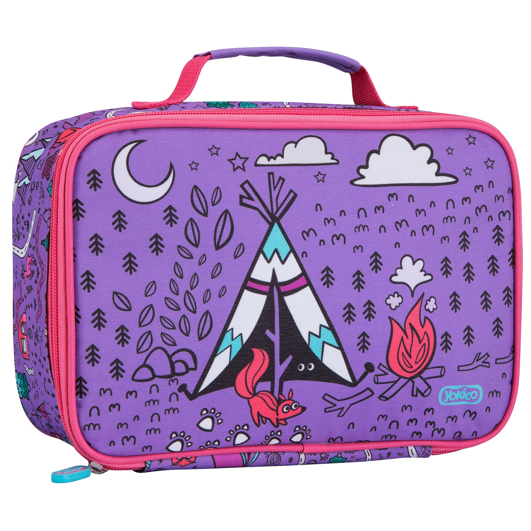 Purple Adventure Maps Lunchbox
