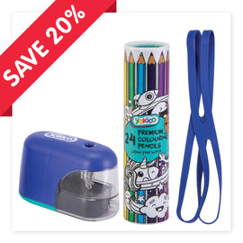 Blue Electric sharpener & Pencils Gift Pack