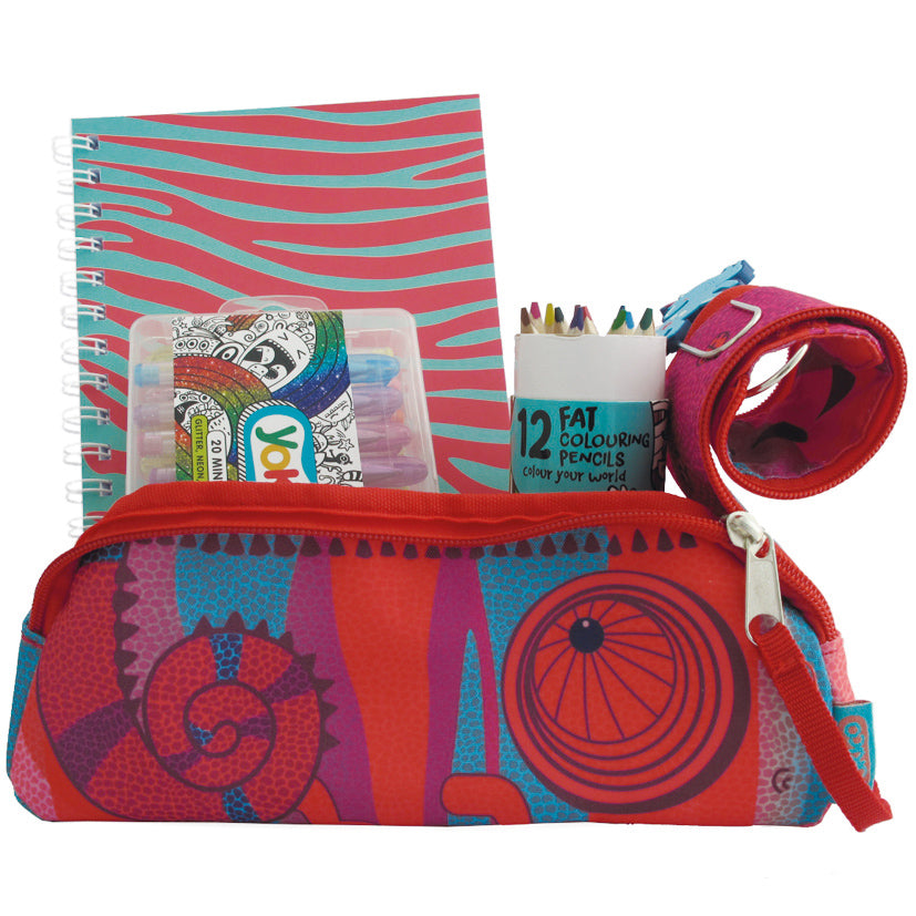 Chameleon Pencil Case Gift Pack