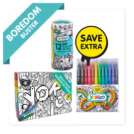 Doodle Colour-in Puzzle Pack
