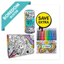 Rainbow Creatures Colour-in Puzzle Pack