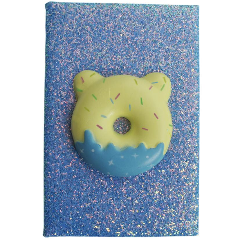 Blue Frosted Donut Squishy Journal
