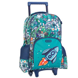 Green Graffiti Trolley Backpack