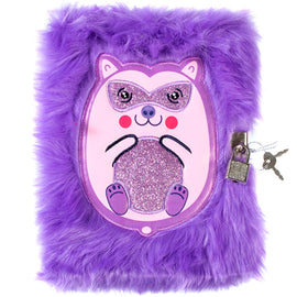 Spike Fluffy Lockable Journal