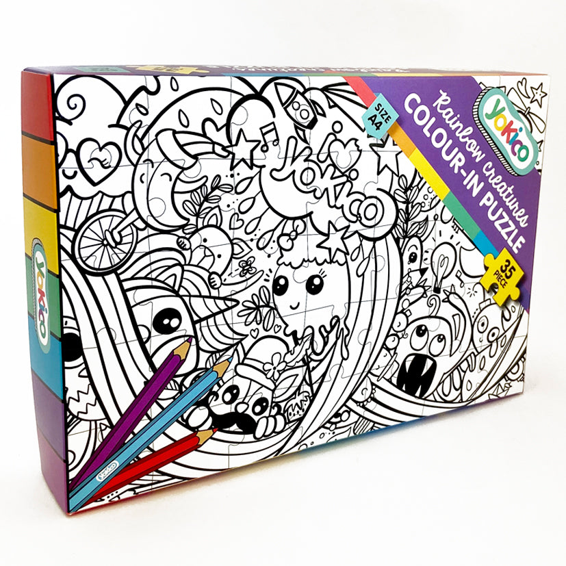 Rainbow Creatures Colour-in Puzzle