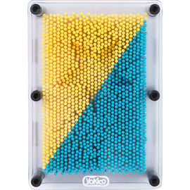 Blue Yellow Pin Art