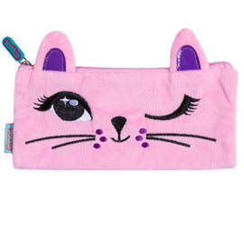 Pink Furry Kitty Pencil Case