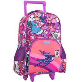 Pink Graffiti Wheelie Backpack