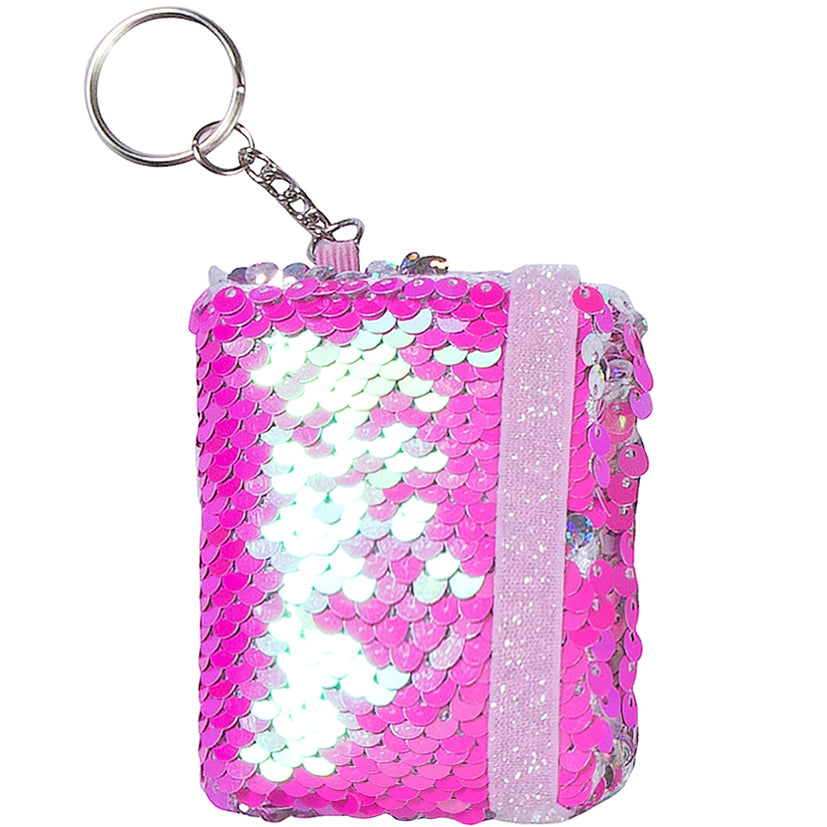 Pink Mini-Notebook Keychain