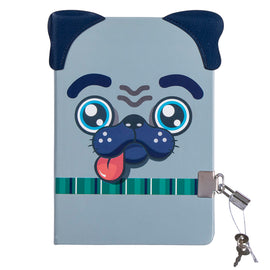 Pug Lockable Journal