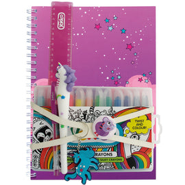 Unicorn Purple A4 Notebook Gift Pack