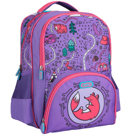 Purple Adventure Maps Backpack