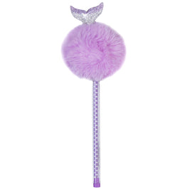 Purple Fluffy Mermaid Pen
