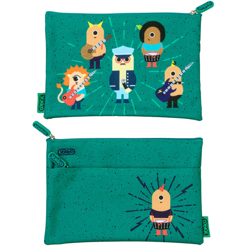 2 Zip Rockers Pencil Case