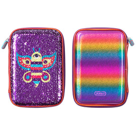 Butterfly Sequin Hardshell Pencil Case