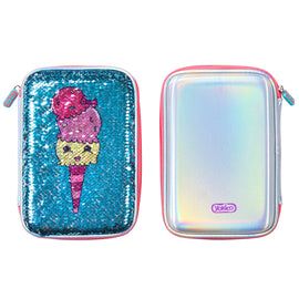 Ice-Cream Sequin Hardshell Pencil Case
