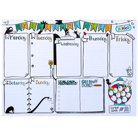Weekly A4 Desk Planner