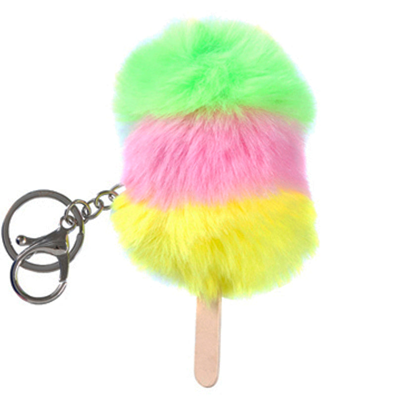 Fluffy lolly Keychain - Yellow