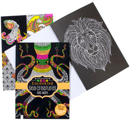 Neon Colouring Book -Sea Creatures