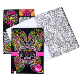 Neon Colouring Book - Butterflies and More